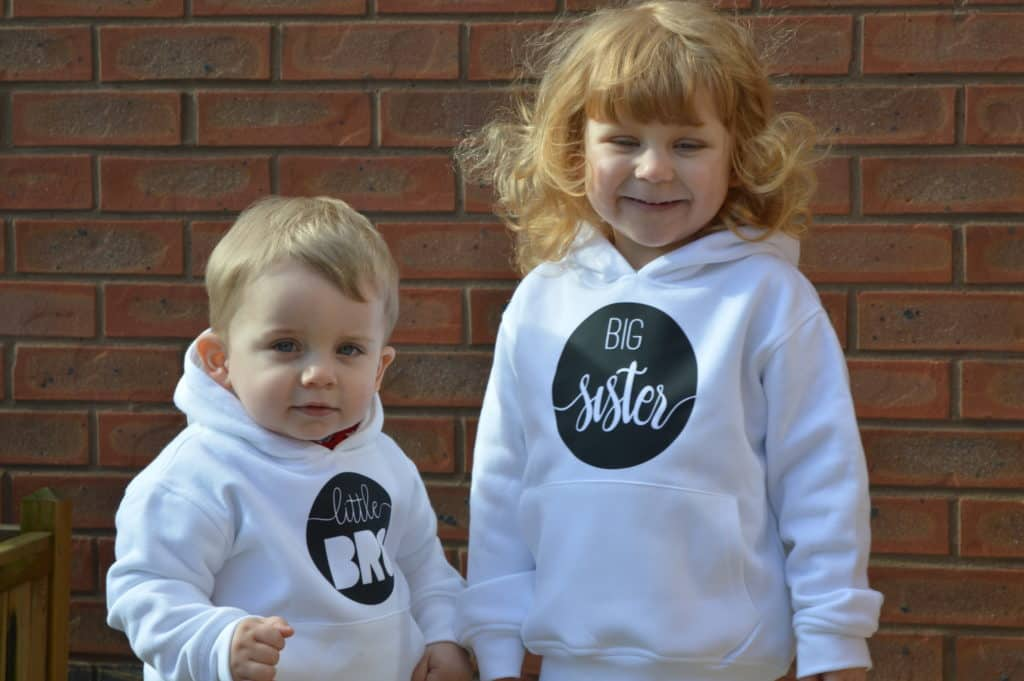 Baby boutique brother and sister hoodies
