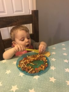 Nachos make a great meal even for toddlers