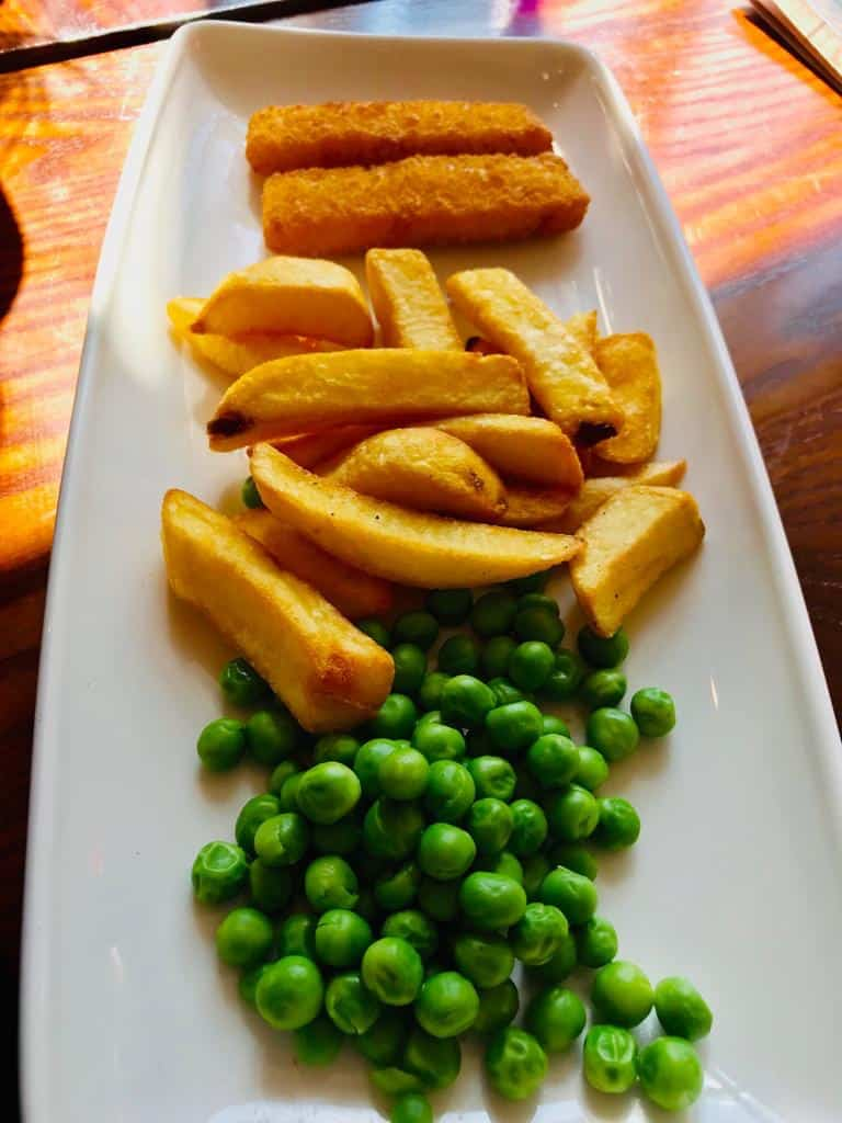 Children's chips and peas