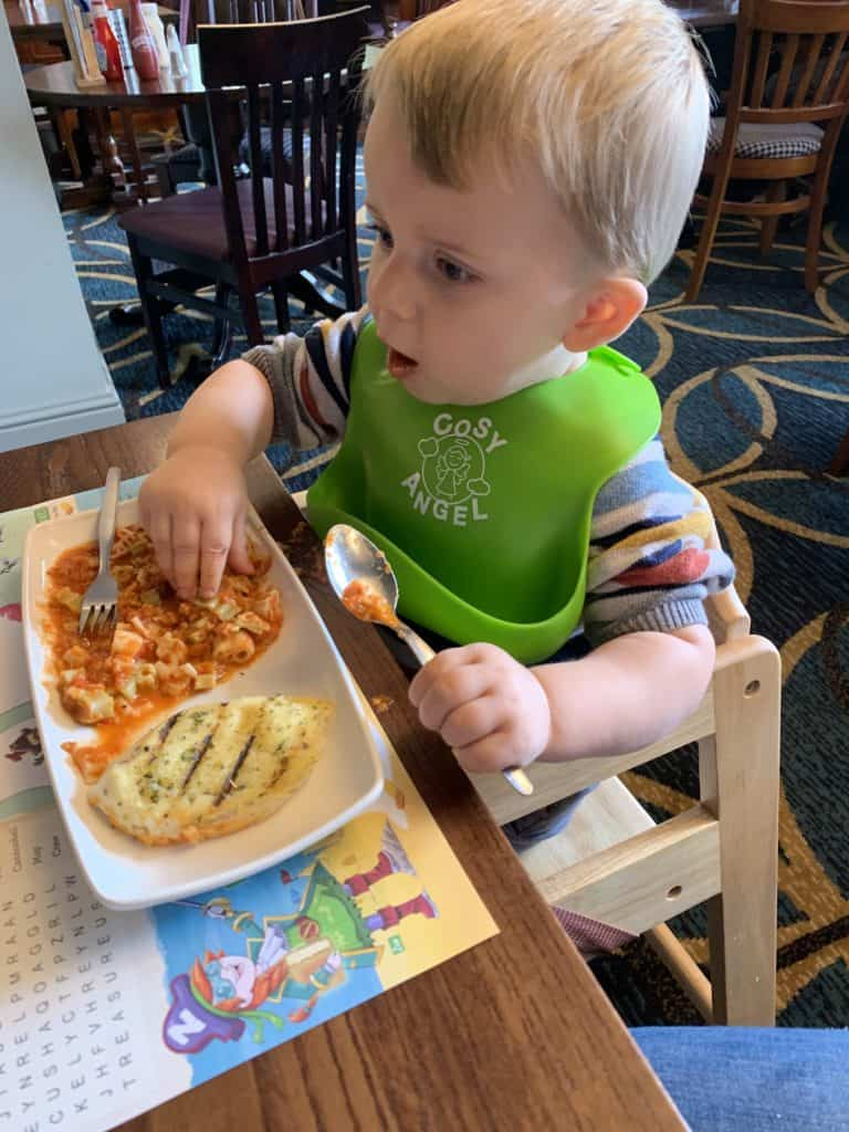 Under 5's pasta meal