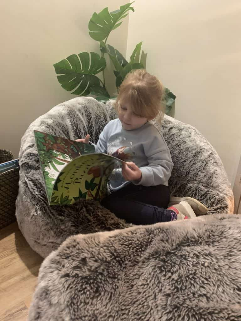Creating a reading snug at home