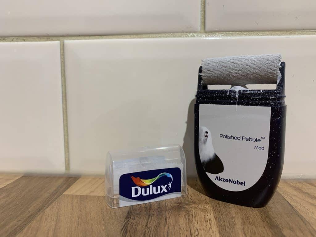 Dulux polished Pebble tester