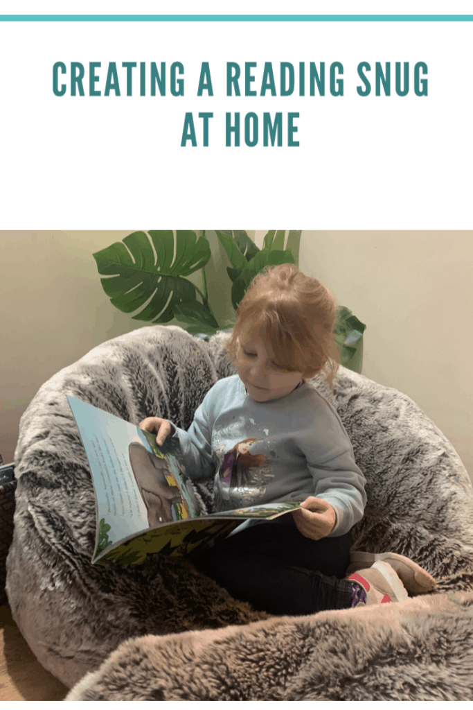 How to easily create a reading snug at home . To get your children interested in reading. #literacy #earlyyears #reading #snug #interiors #home #easy