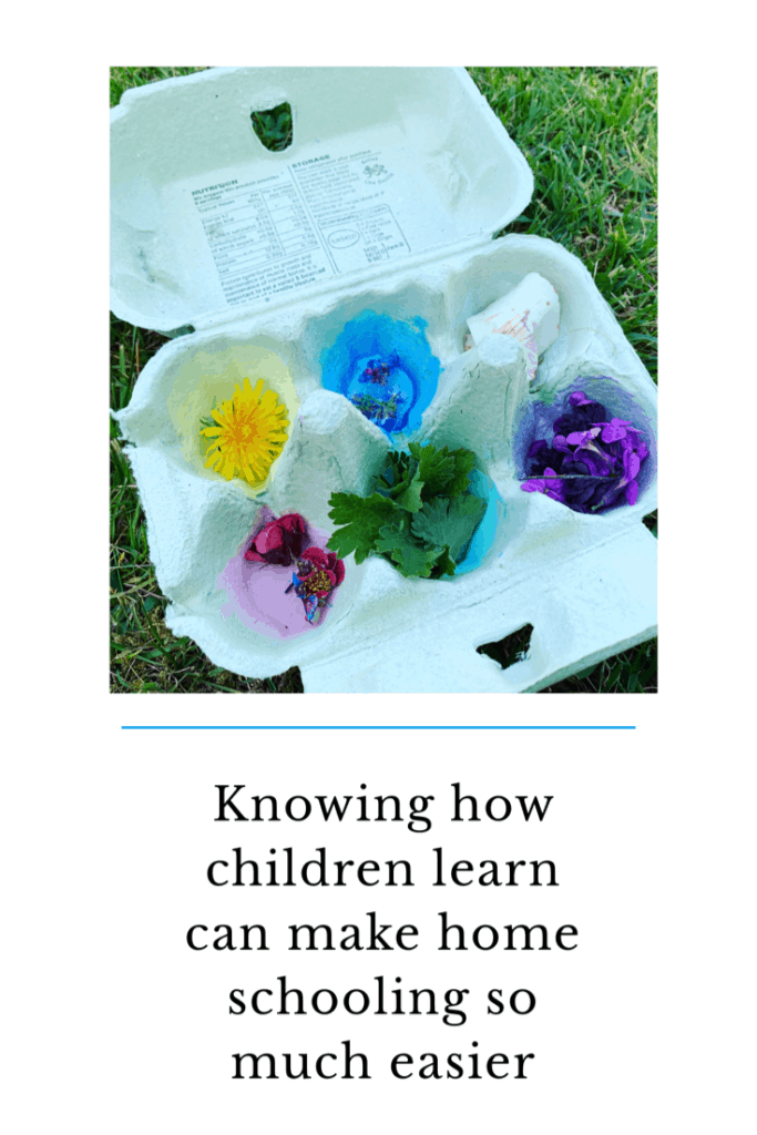 Knowing how children learn and their learning styles can make homeschooling so much easier. Here are 4 ways in which your children may learn . Figuring out how they learn is beneficial #learning #learningstyles #homeschooling #eyfs #childdevelopment #school #activties #supportyourchild