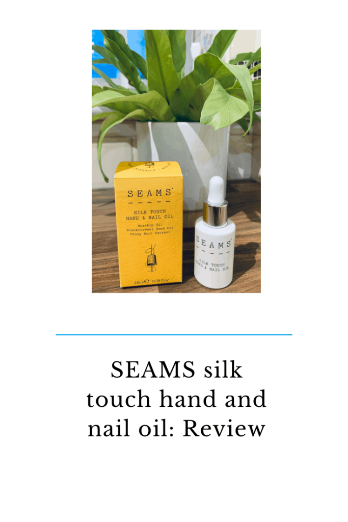 SEAMS silk touch hand and nail oil. #skincare #natural #nail #selfcare #handoil #beautyreviews