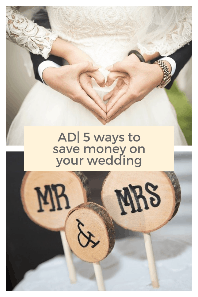 Getting married can be expensive but it's doesn't have to be . Here are 5 easy ways to save money #money #wedding #diywedding