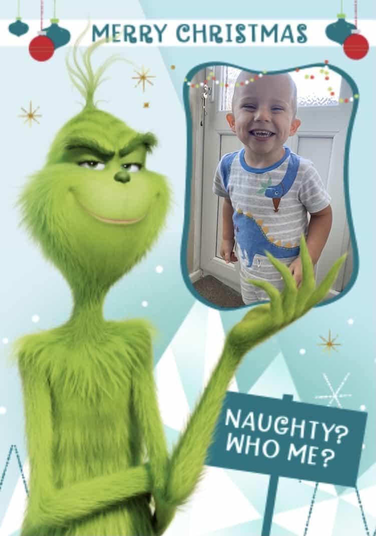 Moonpig Christmas card