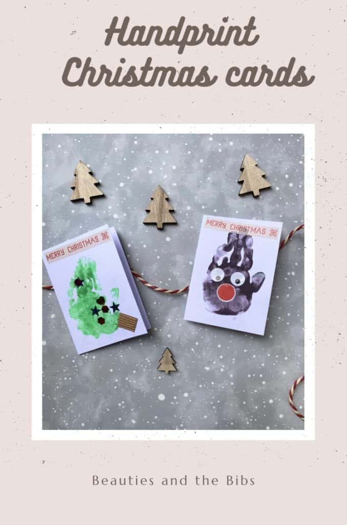Christmas is a time to make memories and these handprint Christmas cards are great memories that can be kept forever #crafts #christmascraft #handprint #handprints #handprintcrafts #childrenscrafts #christmas